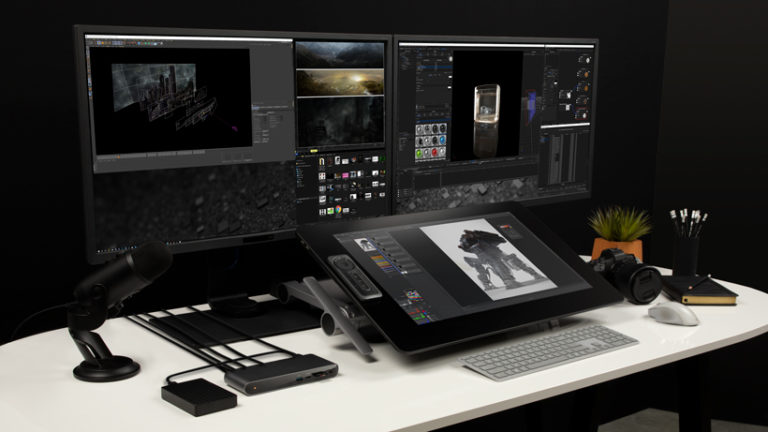 belkin-F4U097-Thunderbolt-3-Dock-Pro-lifestyle-creative-work-desk-v01-r01