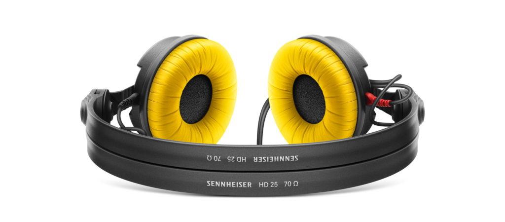 Sennheiser HD25 with yellow ear cups