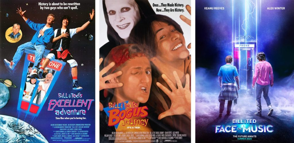Bill and Ted covers movie releases