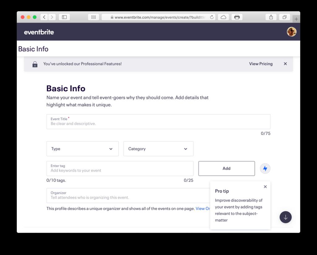 EventBrite Basic Info