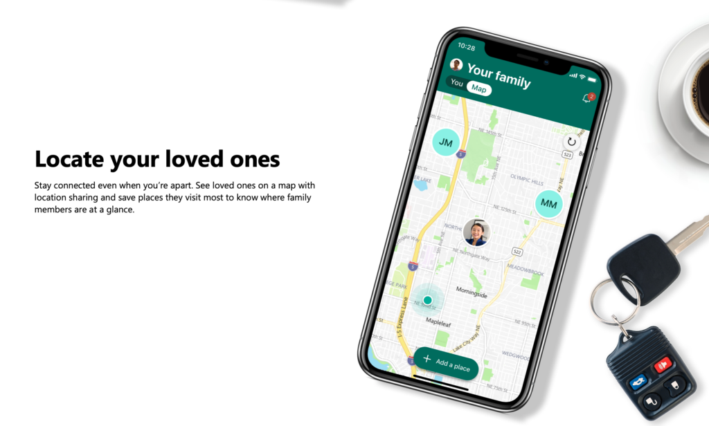 Tracking for Microsoft Family App