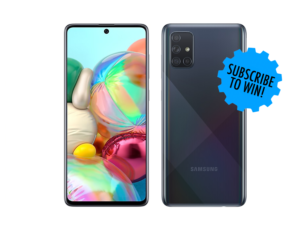August Contest: Win a Samsung Galaxy A71 Smartphone