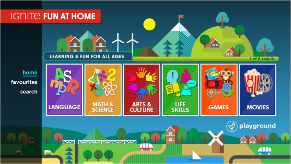 Fun at Home is launching on Rogers Ignite TV. The app is geared towards making screen time an educational opportunity while kids are at home.